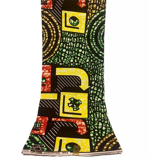 6 Yards SUPER WAX African Fabrics - 100% Cotton (SSW0108)