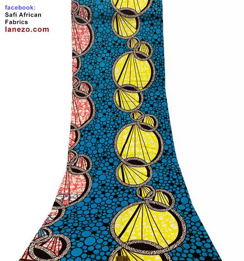 Ankara Fabric, African Fabric, African Wax Print, 100% Cotton, Ankara Wax Print, Kitenge Fabric, African Print Fabric, 6 Yards, Joann Fabrics, African Dress, Traditional African Clothing, Ankara Headwrap, (SAF0245)