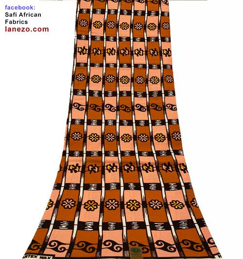 African Print Fabric,  Safi African Fabrics, Lanezo Fabric,  African Print Dress,  Pqdaysun, Traditional African Clothing, Ankara Headwrap, Kente Fabric, Ankara Wax Pattern, Head Scarf Fabric,  6 Yards African Print Fabrics - 100% Cotton (SAF0276)