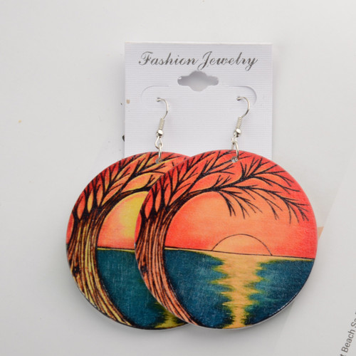 Sundown Wooden Earrings