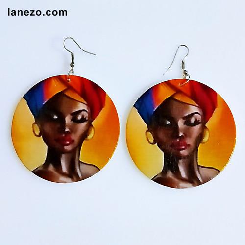 Scarf 2 Wooden Earrings