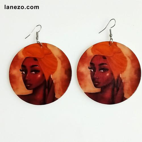 Scarf Wooden Earrings