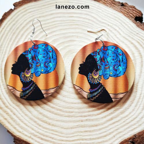 Colorfully Black Wooden Earrings