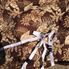 """Premium Waterproof Brown LeafPrint Barbecue BBQ cover w/straps-FitsUp to 48"""" Wid"""
