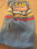 ✅ Kids Stripe Beanie With Pom Pom blue
