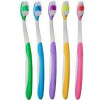 5pk Premium Rubberizred  Grip Color Coded Toothbrushes