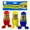 Limit 1 for $1   3-Pack Baseball Guy® Smiley Face Toothpick Holders