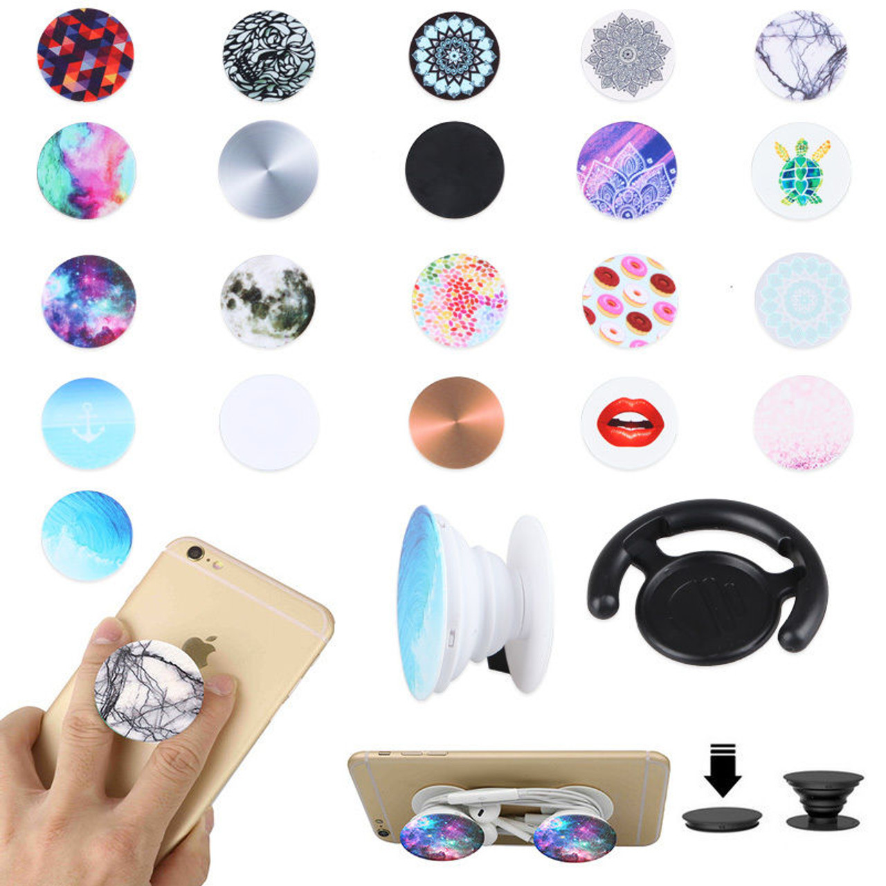 2efb95c99ad Universal Mini Phone  Tablets Expanding Stand  Grip Mount for iphone    Samsung   PopSocket PopSockets