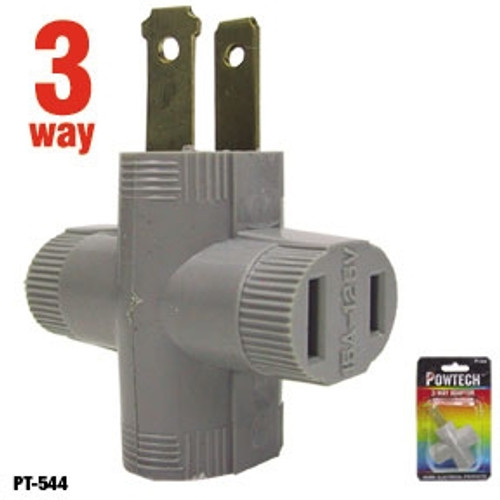 ✅Powtech 3-Way Household Outlet Splitter Adapter, Make ONE outlet into THREE