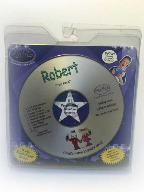 ✅KID HIP Personalized Name (Robert) CD- Hear Your Child's Name 50x In The Music