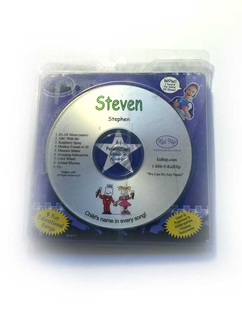 KID HIP Personalized Name (Steven) CD- Hear Your Child's Name 50x In The Music