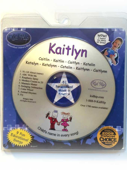 ✅KID HIP Personalized Name (Kaitlyn) CD- Hear Your Child's Name 50x In The Music