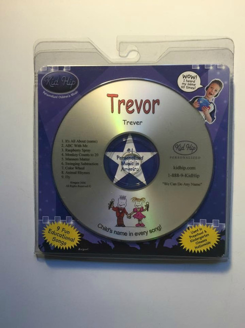 ✅KID HIP Personalized Name (Trevor) CD- Hear Your Child's Name 50x In The Music