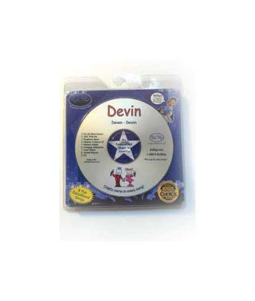 ✅KID HIP Personalized Name (Devin) CD- Hear Your Child's Name 50x In The Music