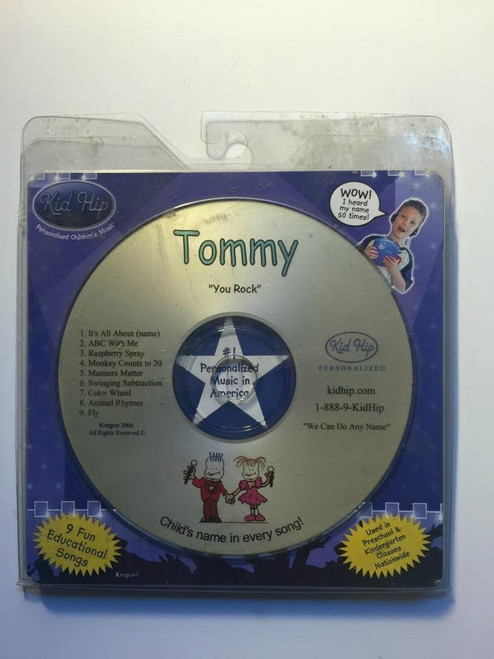 ✅KID HIP Personalized Name (Tommy) CD- Hear Your Child's Name 50x In The Music
