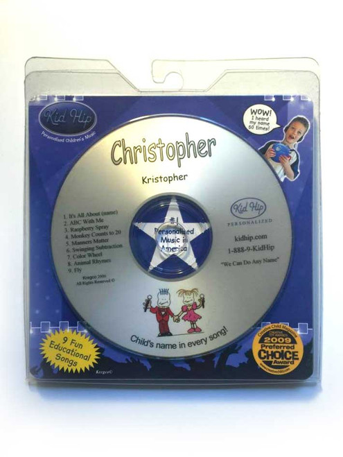 ✅KID HIP Personalized Name (Christopher) CD- Hear Your Child's Name 50x
