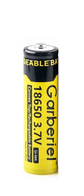 One 18650 3.7v 18650 RECHARGEABLE 5000mAh Garberiel Genuine Button-Top  batteries