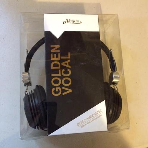 eVogue Golden Vocal Headphones BLACK