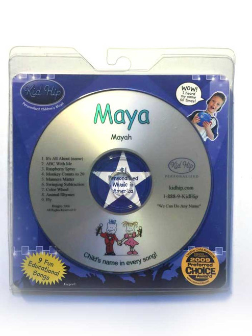 ✅ KID HIP Personalized Name (Maya) CD- Hear Your Child's Name 50x In The Music