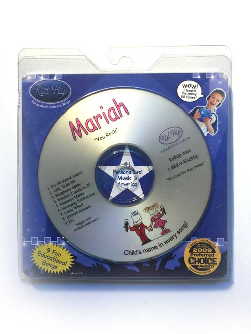 ✅KID HIP Personalized Name (Mariah) CD- Hear Your Child's Name 50x In The Music
