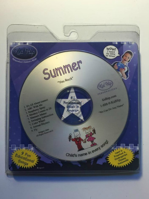 ✅KID HIP Personalized Name (Summer) CD- Hear Your Child's Name 50x In The Music