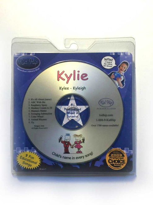 ✅ KID HIP Personalized Name (Kylie) CD- Hear Your Child's Name 50x In The Music
