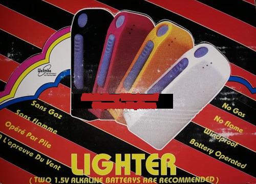 AA Battery Cigarette Lighters - Flameless, Windproof, No Gas, GasLess, 100% Elec