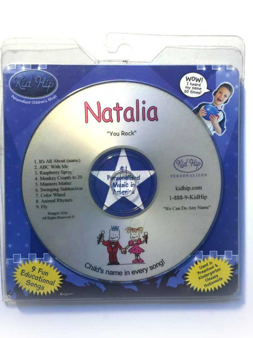 ✅KID HIP Personalized Name (Natalia) CD- Hear Your Child's Name 50x In The Music