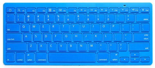 JAMSONIC BLUETOOTH WIRELESS KEYBOARD BLUE Works with Apple, Droid, Blackberry, H