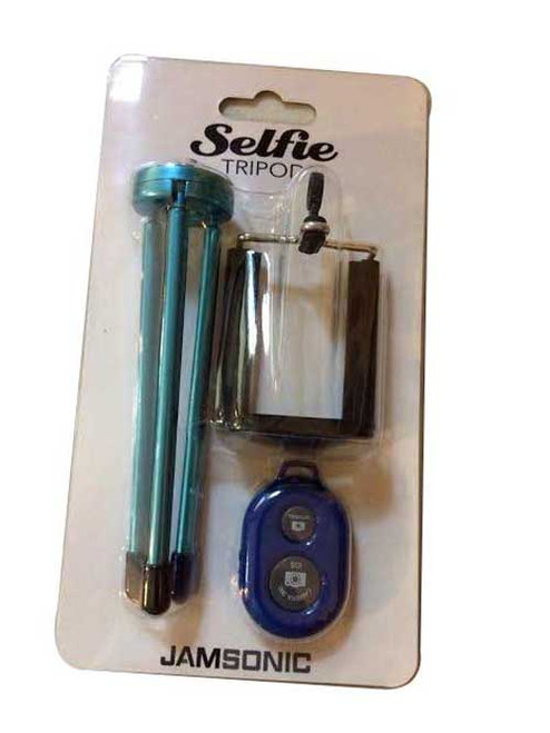 Jamsonic Bluetooth trfor ipod Selfie Stick BLUE (with independently movable legs