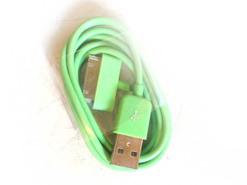 iPhone 4/iPad/iPod 3ft 30 pin Charging Cable GREEN
