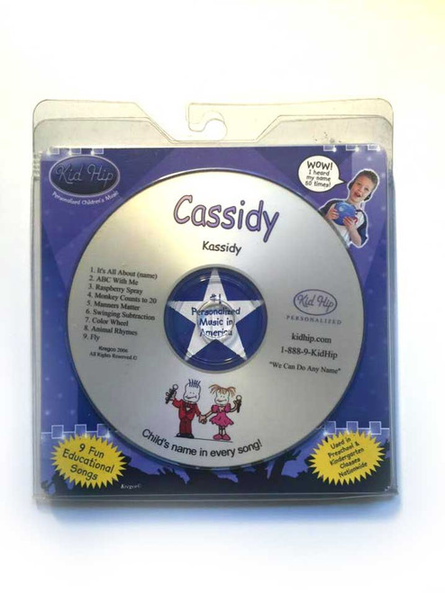 KID HIP Personalized Name (Cassidy) CD- Hear Your Child's Name 50x In The Music