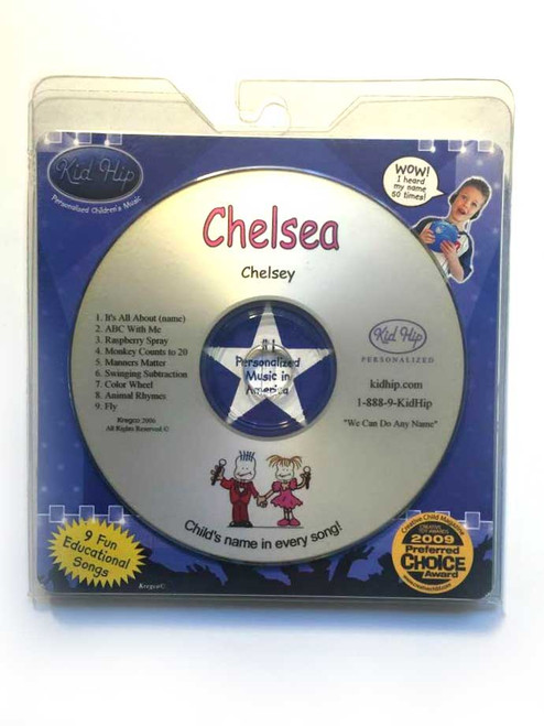 ✅KID HIP Personalized Name (Chelsea) CD- Hear Your Child's Name 50x In The Music