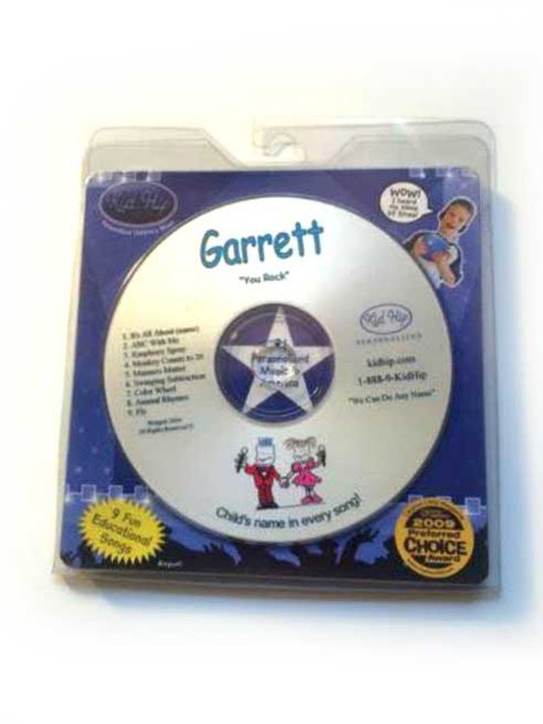 ✅KID HIP Personalized Name (Garrett) CD- Hear Your Child's Name 50x In The Music
