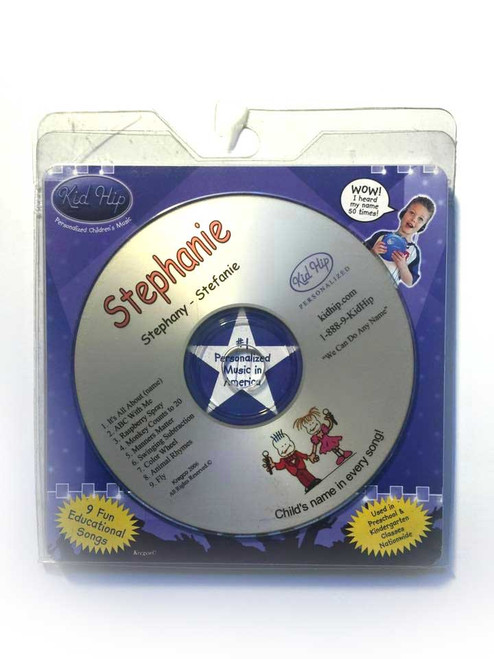 ✅KID HIP Personalized Name (Stephanie) CD- Hear Your Child's Name 50x