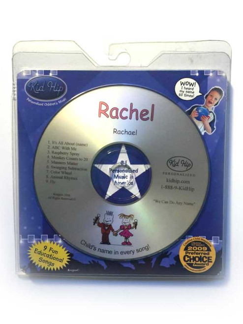 ✅KID HIP Personalized Name (Rachel) CD- Hear Your Child's Name 50x In The Music