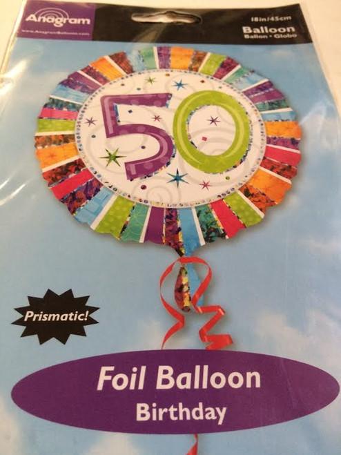 3x Anagram 50 Foil Balloon Birthday