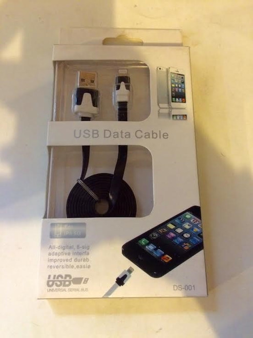 USB Data High Speed Black and white Cable For iPhone 5, 5s, 6, 6 plus, 7, 7 plus