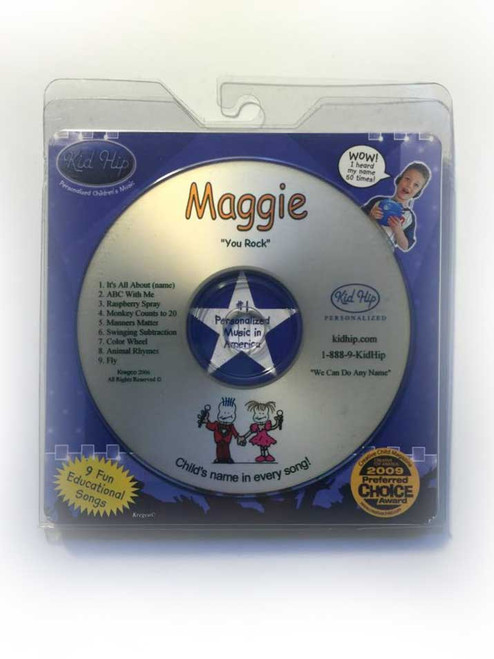 ✅KID HIP Personalized Name (Maggie) CD- Hear Your Child's Name 50x In The Music