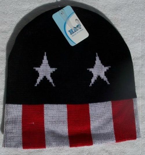 Beanie Ski Hats -Stars & Stripes  Toasty Wam - One Size Fits Skul Caps