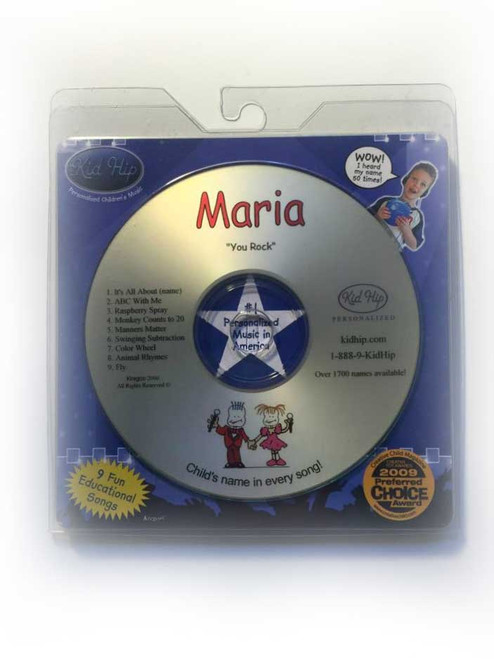 ✅KID HIP Personalized Name (Maria) CD- Hear Your Child's Name 50x In The Music