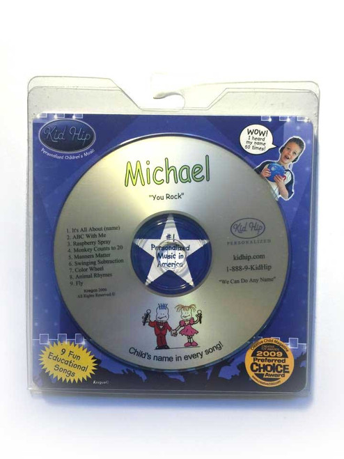 ✅KID HIP Personalized Name (Michael) CD- Hear Your Child's Name 50x In The Music