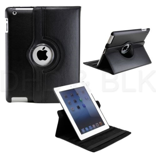 Delton Swivel Folio Case for for ipad2/new for ipad BLACK
