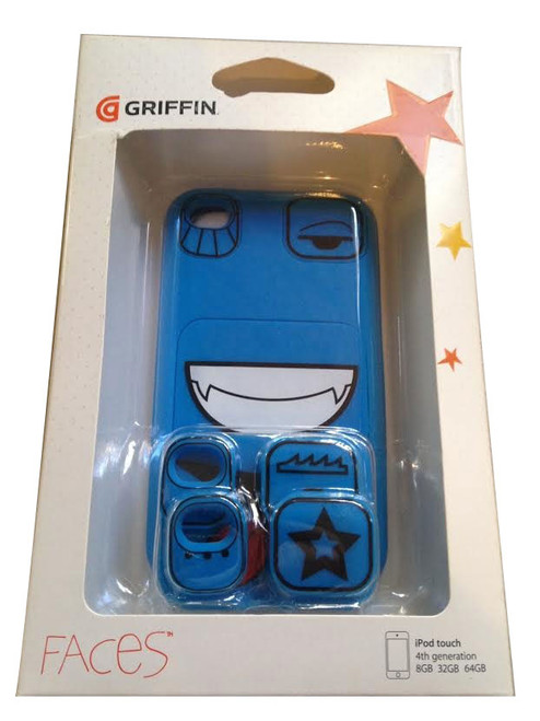 Ipod Touch 4 Blue Faces Case