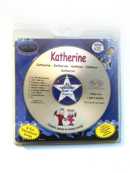 ✅KID HIP Personalized Name (Katherine) CD-Hear Your Child's Name 50x In The Musi