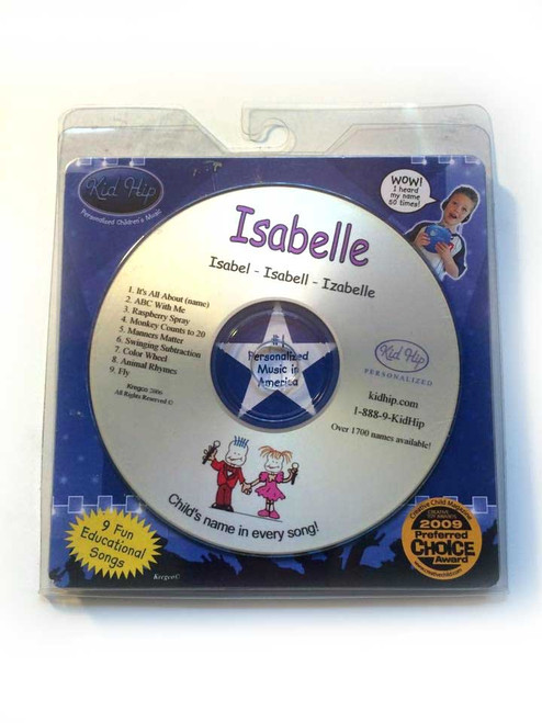 ✅KID HIP Personalized Name (Isabella) CD-Hear Your Child's Name 50x In The Music
