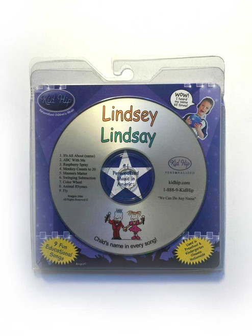 ✅KID HIP Personalized Name (Lindsey-Lindsay) CD- Hear Your Child's Name 50x
