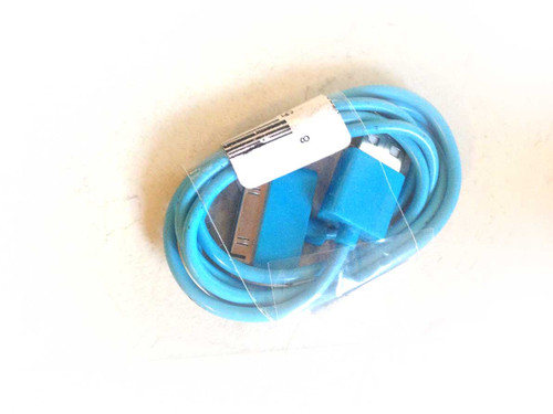 iPhone 4/iPod/iPad 3ft 30 pin Charging Cable BLUE