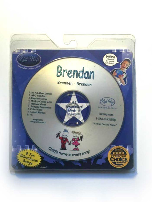 KID HIP Personalized Name (Brendan) CD- Hear Your Child's Name 50x In The Music