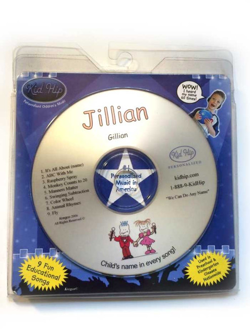✅KID HIP Personalized Name (Jillian) CD- Hear Your Child's Name 50x In The Music